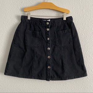 Urban Outfitters BDG Black Button Up Skirt